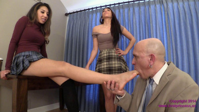 Jennifer and Mia – Woodman Licks Shoes and Sucks Toes