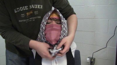Elizabeth Andrews - Silk Scarf Secretary Gagged With Her Own Product