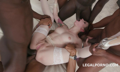 Beauty Slut Anna de Ville Gangbanged By 5 Gigant Black Cocks With Dap
