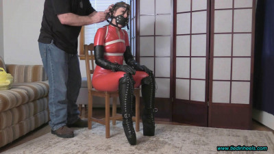 Rachel Adams – Tied and Muzzled in Wedge Boots! Pt-1