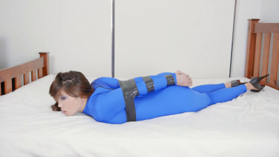 Taped In Blue Catsuit
