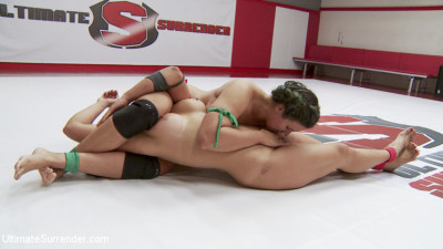 Orgasmic Wrestlers meet on the mats. It's inevitable that One will cum