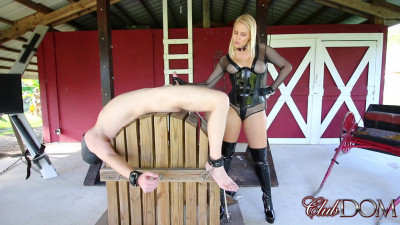 Goddess Vanessa Cage Painful Milking Day for Slave
