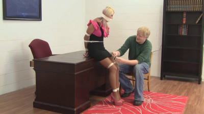 Holly Wood - Punished for Filing Mishaps with Tight Bondage