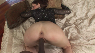 Huge black cock into her tight pierced cunt