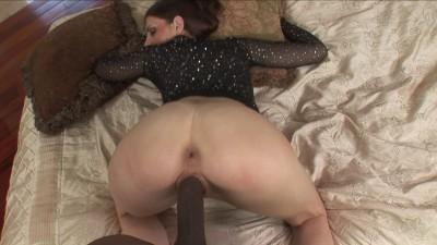 Description Huge black cock into her tight pierced cunt
