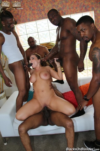 Natasha Nice — interracial gang bang (2018)