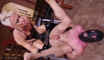 Black Strap-On Cock Fucking