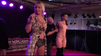 Public Bondage Walk at Venus Fair in Berlin - HD 720p