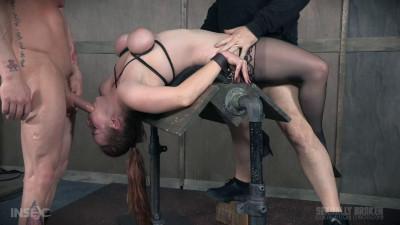 Bella Rossi BaRS Part 2: Busty Bella beautifully bound backwards beaten with boners!
