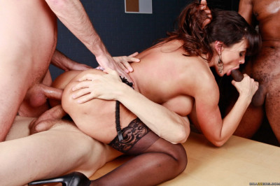 Three Guys Release A Gang Bang Of Epic Proportion On A Naughty Milf