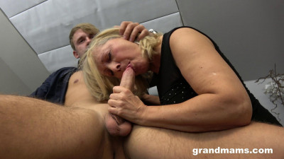 Old Blond Whore Enjoying Young Gigolo