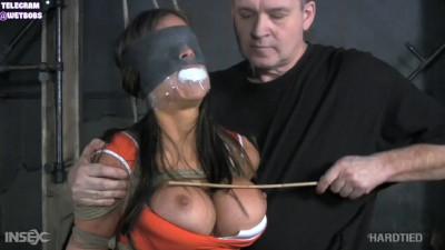Bondage, spanking and hogtie for naked brunette part 1 Full HD 1080p