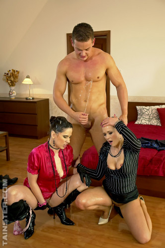 Description Two Hot Naughty Ladies With A Guy In A Piss Scene