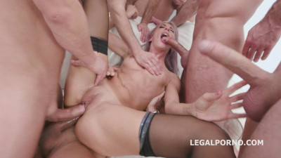 Seven on One Dap Gangbang Vicky Sol Deep Anal Rough Action Gapes