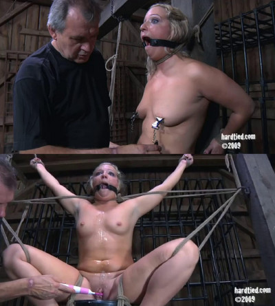 Hard bondage, strappado and torture for sexy whore part 2