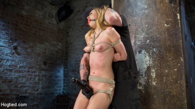 Young Blonde Babe is Devastated in Brutal Bondage and Made to Cum