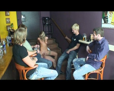 Description Late gangbang at a bar
