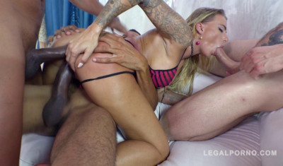 Hot Whore Juelz Ventura In Epic Gangbang With DP Fuck
