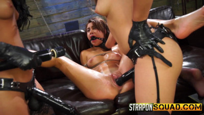 Description StrapOnSquad Marina Angel Loves Lesbian Double Penetration with Esmi Lee and Abella Danger