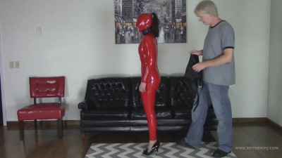 Arielle Lane – Red Hood, Hobble Dress, and Armbinder