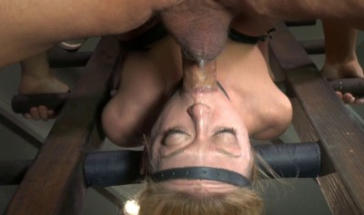 Blond Bimbo Inverted With Automatic Cocksucking Machine Brutal Deepthroat