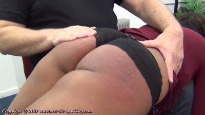 Emily gets a hard spanking for missing a few classes