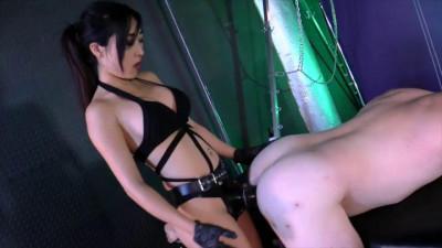 black download asia strap (Luna Li - Fucks Her First Slave Ass)!