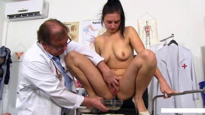 Diana takes a urine test.