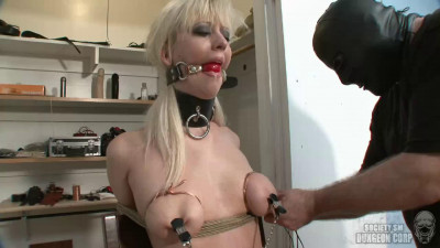 Tight bondage, spanking and torture for horny blonde part 1 FullHD 1080p