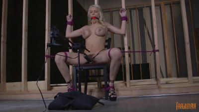 Busty Blonde Bound with Bondage Orgasm