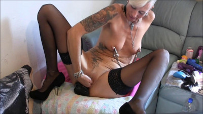Informal girl fuck themselves with toys