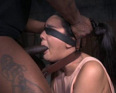 Description Cute Brunette Paisley Parker Blindfolded