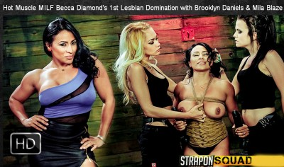 StraponSquad – Feb 03, 2015 – Hot Muscle MILF Becca Diamond's 1st Lesbian Domination
