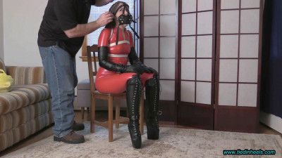 Rachel Adams - Tied And Muzzled In Wedge Boots Pt1