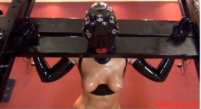Heavy Hooded Rubber Bondage, Dildo, Armbinder Part Two (2014)