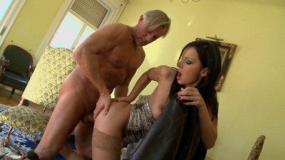 Description Abbie Cat A Beautiful Brunette Has Sex With An Old Man