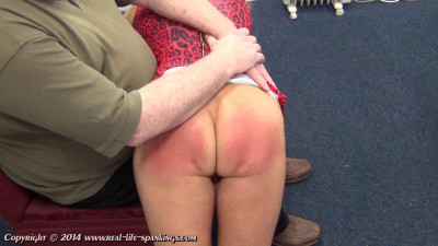 Real life spankings - Esther's first spanking - during, naughty, tit.
