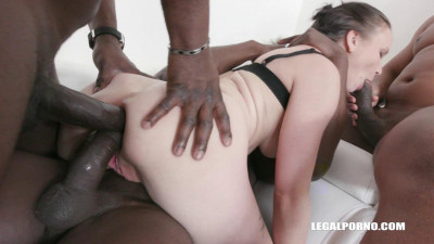 Ally Styles loves to get two cocks in the ass and enjoys pissing