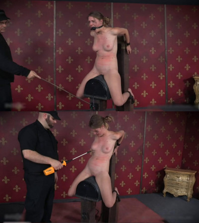 Bondage, domination and spanking for sexy naked blonde (part2)