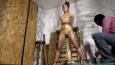 Chi Chi Oiled, Crotch Roped Then Crotch Taped - Parts 1-3
