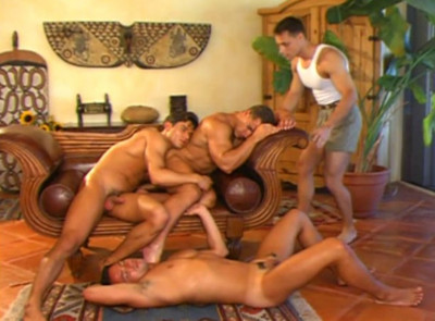 Sexy boyfriends in hot orgies