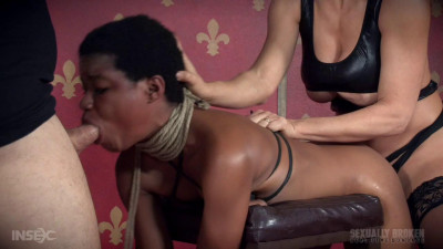 Kahlista Rope Bound, Smothered and Fucked From Both Ends!