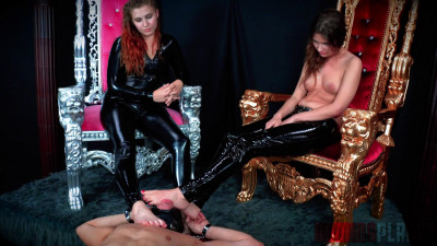 Domina Planet Triple Foot Gag Mistress Stephie Staar, Queen Aryal