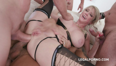 big tit milf dee get pounded by several dicks hard