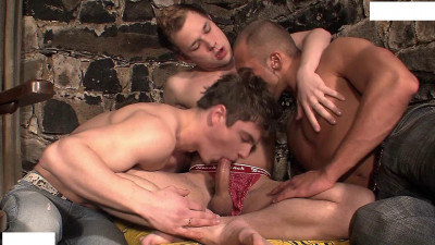 Description Gays are hiding in the basement for an orgy
