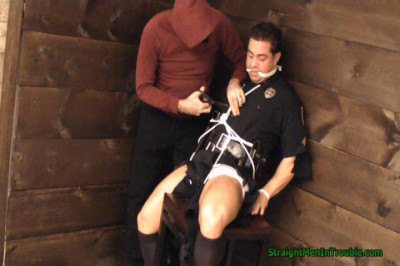 Gay BDSM Police Officer Ripped & Stripped -  Part 1
