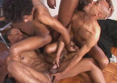 Description Black Handymen In Hard Gangbang