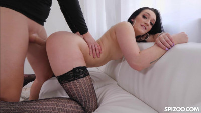 Sexy brunette Megan Hughes Hardcore pov