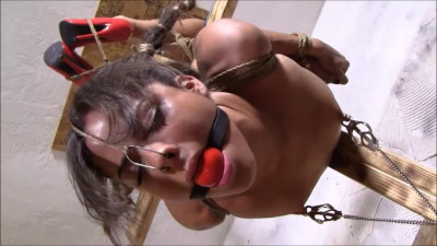 Description Tight bondage, hogtie, torture and strappado for horny brunette Full HD 1080p